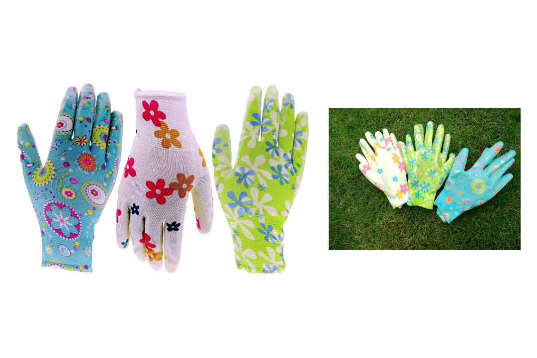 Six Pack Of HOMWE Gardening Gloves In Assorted Colors