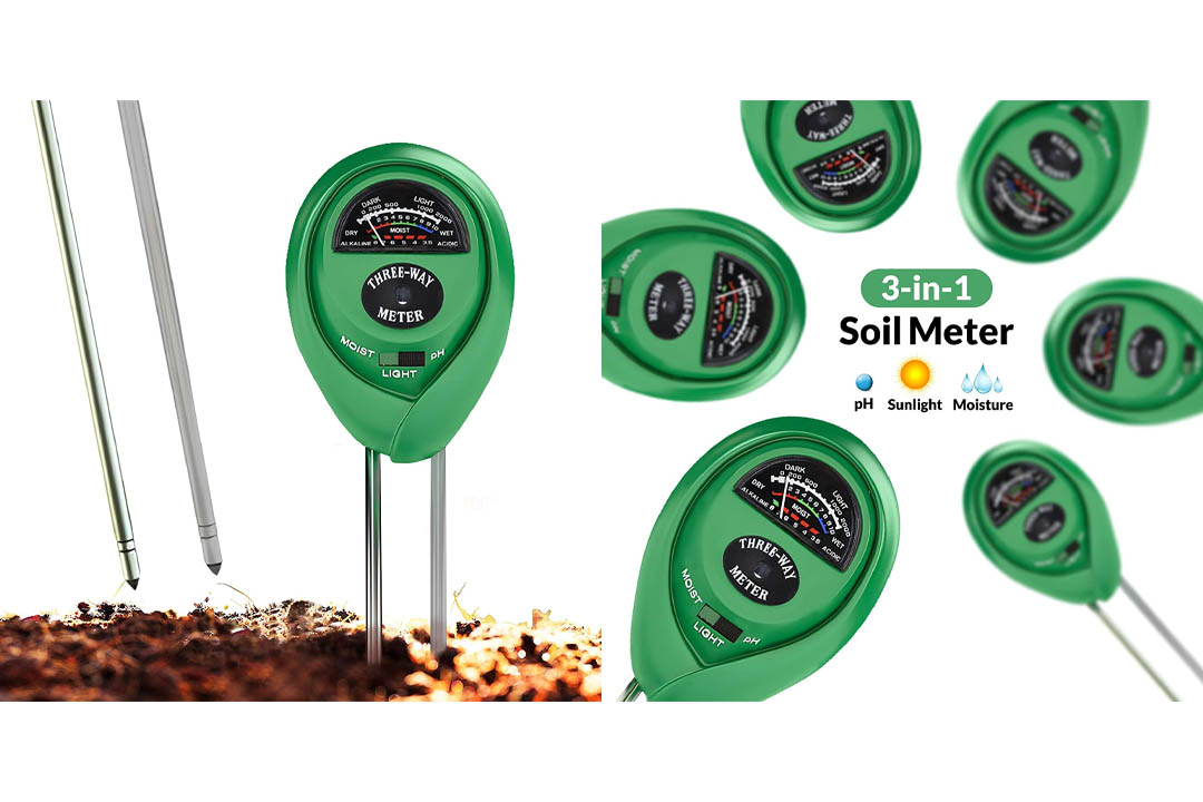 Soil pH Meter, 3-in-1 Soil Test Kit For Moisture, Light & pH, A Must Have For Home And Garden, Lawn, Farm, Plants, Herbs