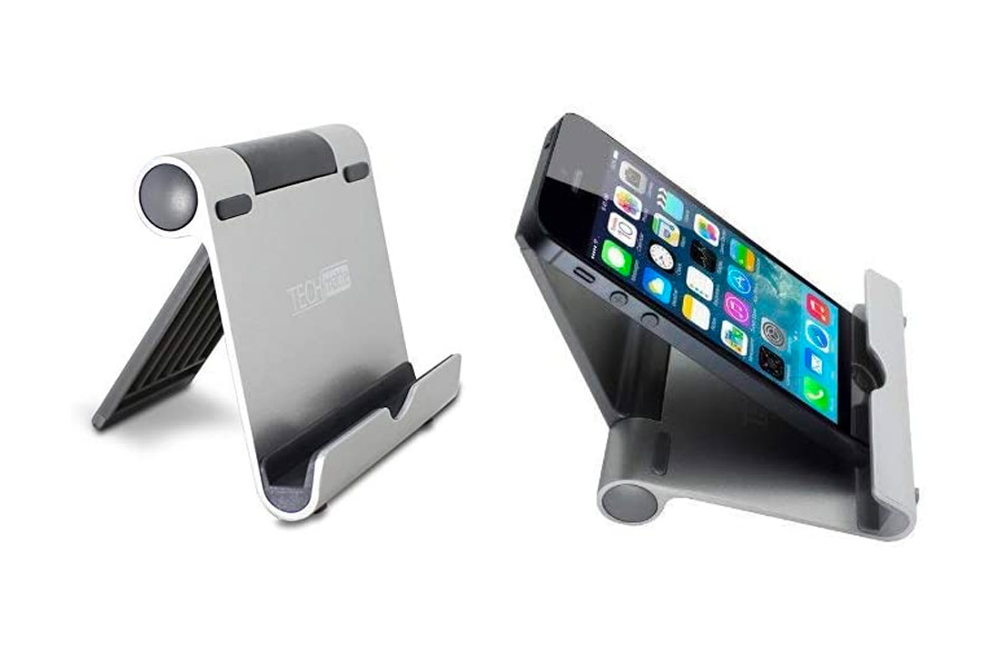 The iPad Stand TechMatte Multi-Angle Aluminum Holder for Tablets