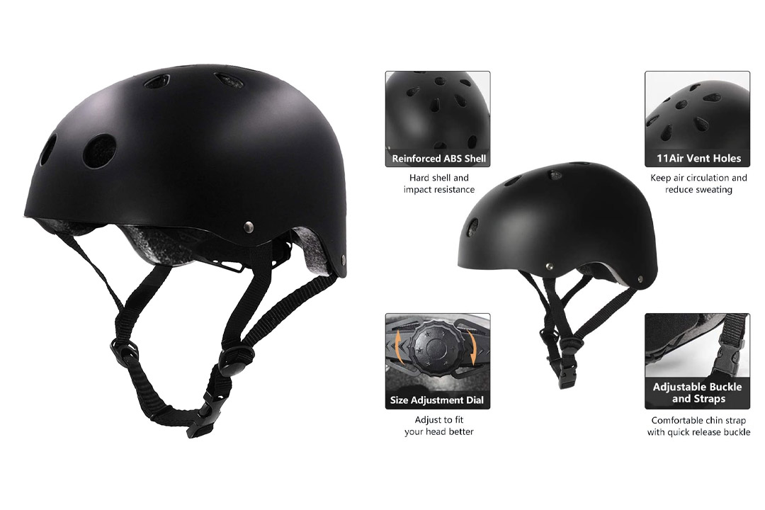 Tourdarson Adult Skateboard Helmet Specialized Certified Protection for Multi-sports Helmet
