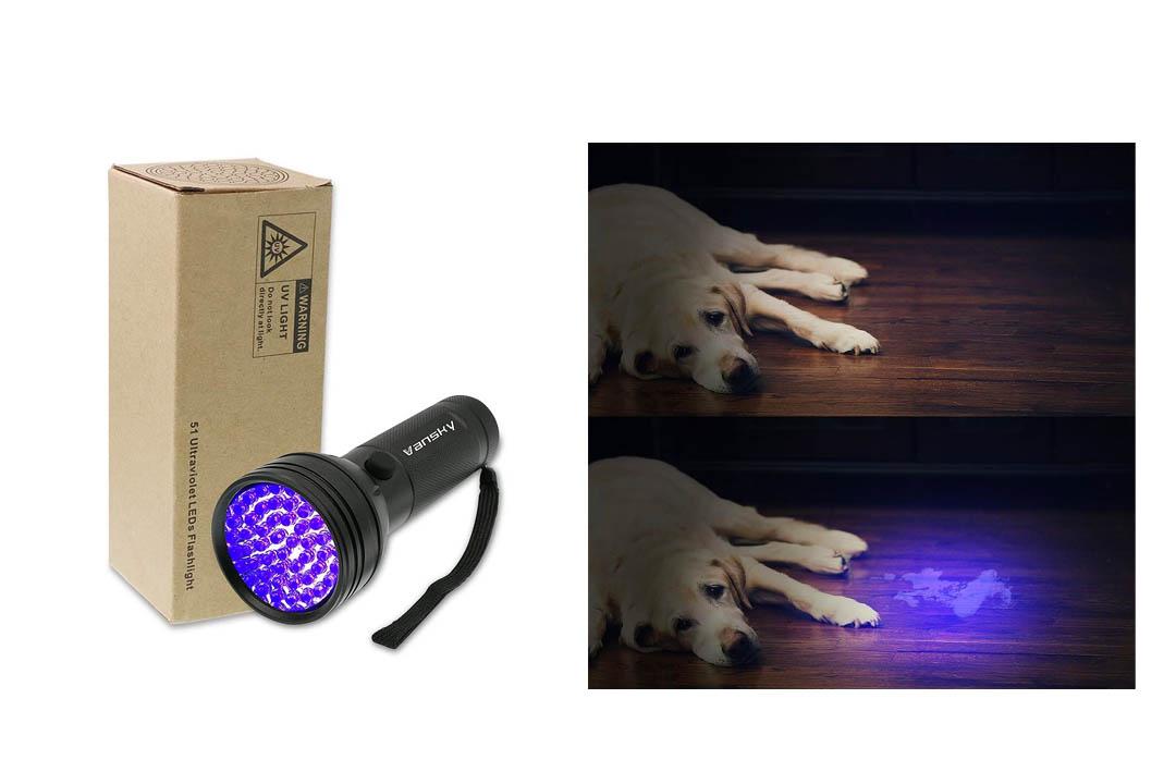 Vansky UV Flashlight Black light UV Lights,51 LED Ultraviolet Blacklight Pet Urine Detector