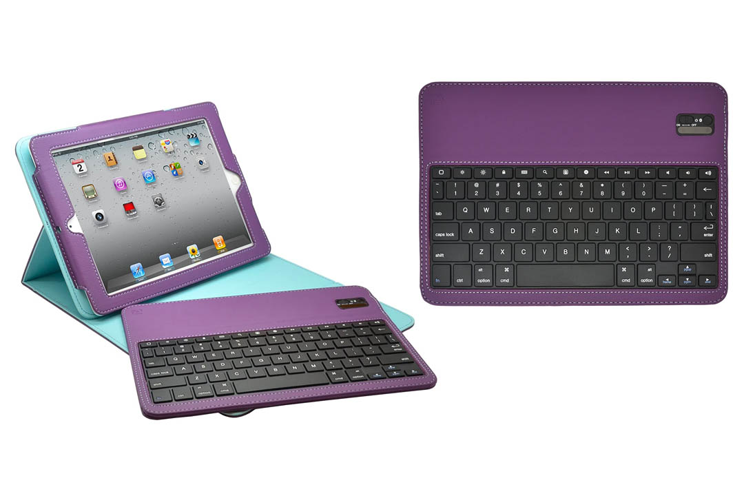 Aduro FACIO Case with Bluetooth Removable Keyboard for Apple iPad