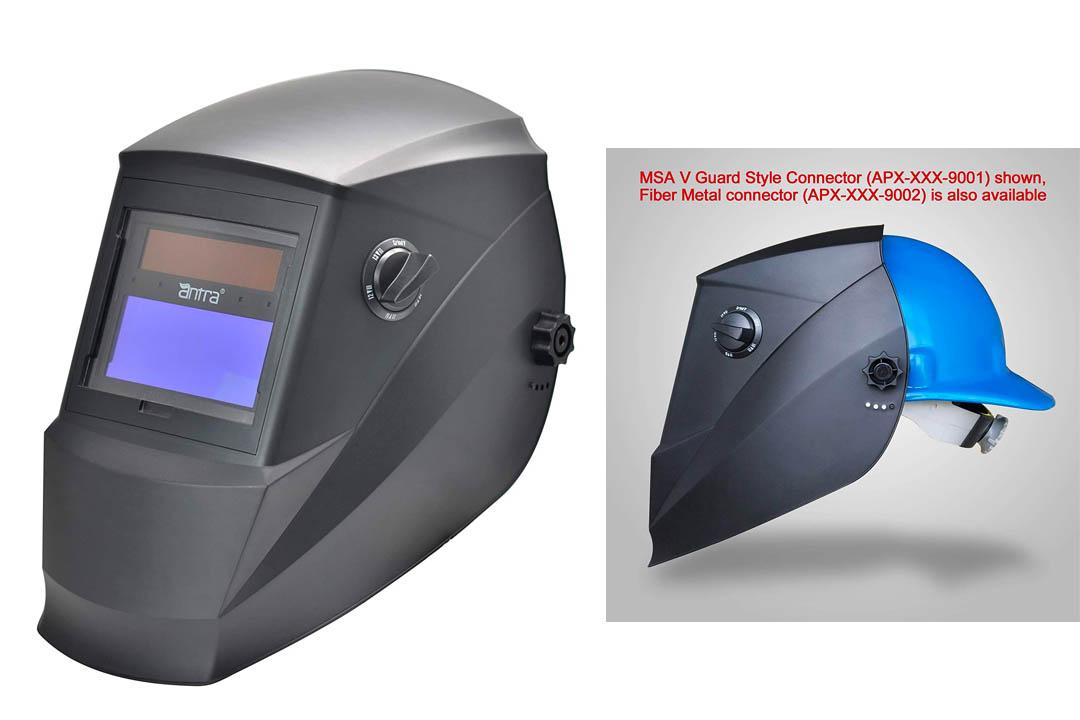 Antra AH6-260-001X Solar Power Auto Darkening Welding Helmet with AntFi X60-2 Wide Shade Range