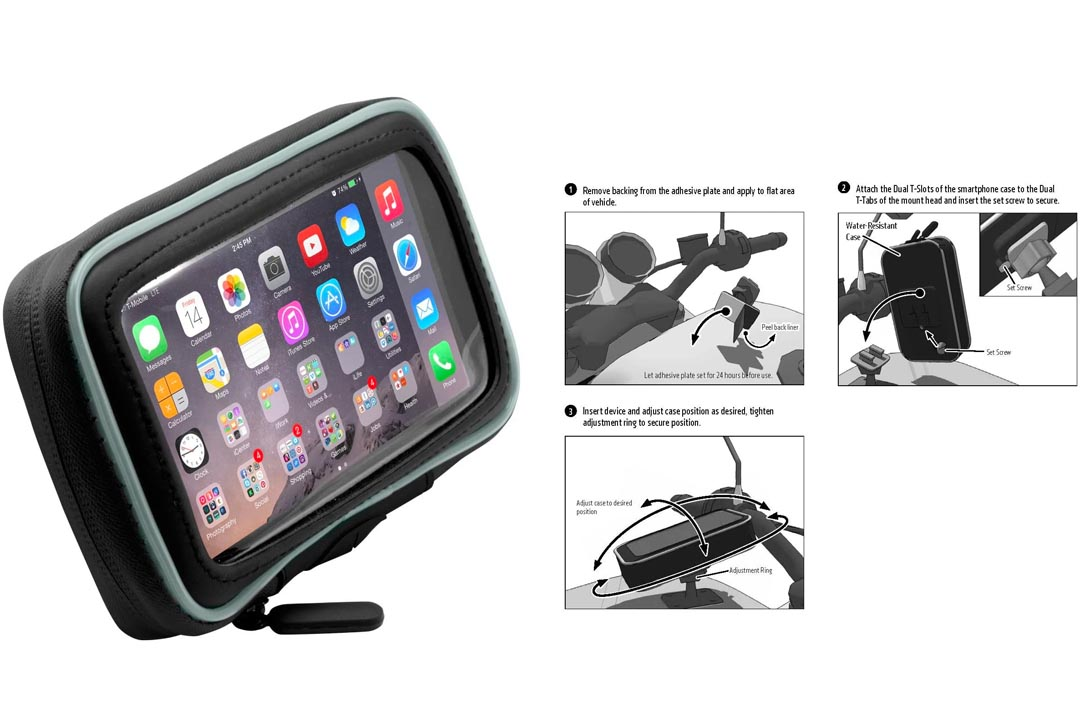 Arkon Adhesive Motorcycle Gas Tank Smartphone Mount Holder