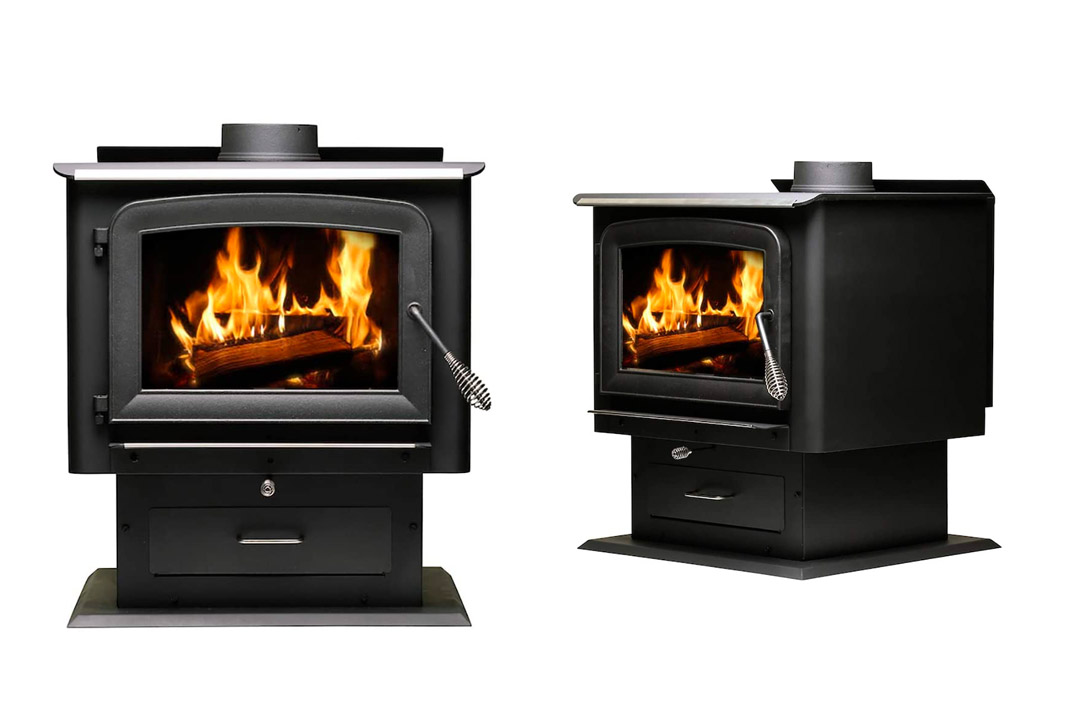 Ashley Hearth AW2520E-P 2,500 Sq. Ft. EPA Certified Pedestal Wood Burning Stove