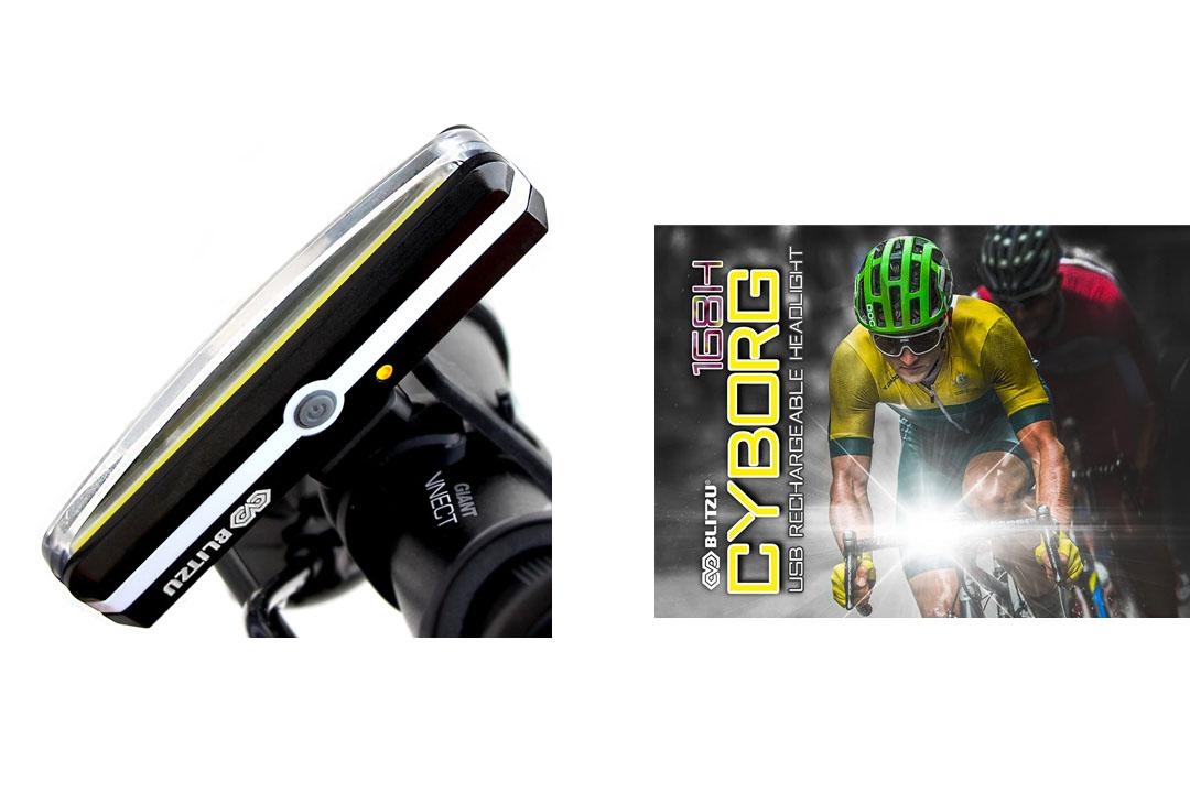 BLITZU Cyborg 168H USB Rechargeable Headlight SUPER BRIGHT Bike Light