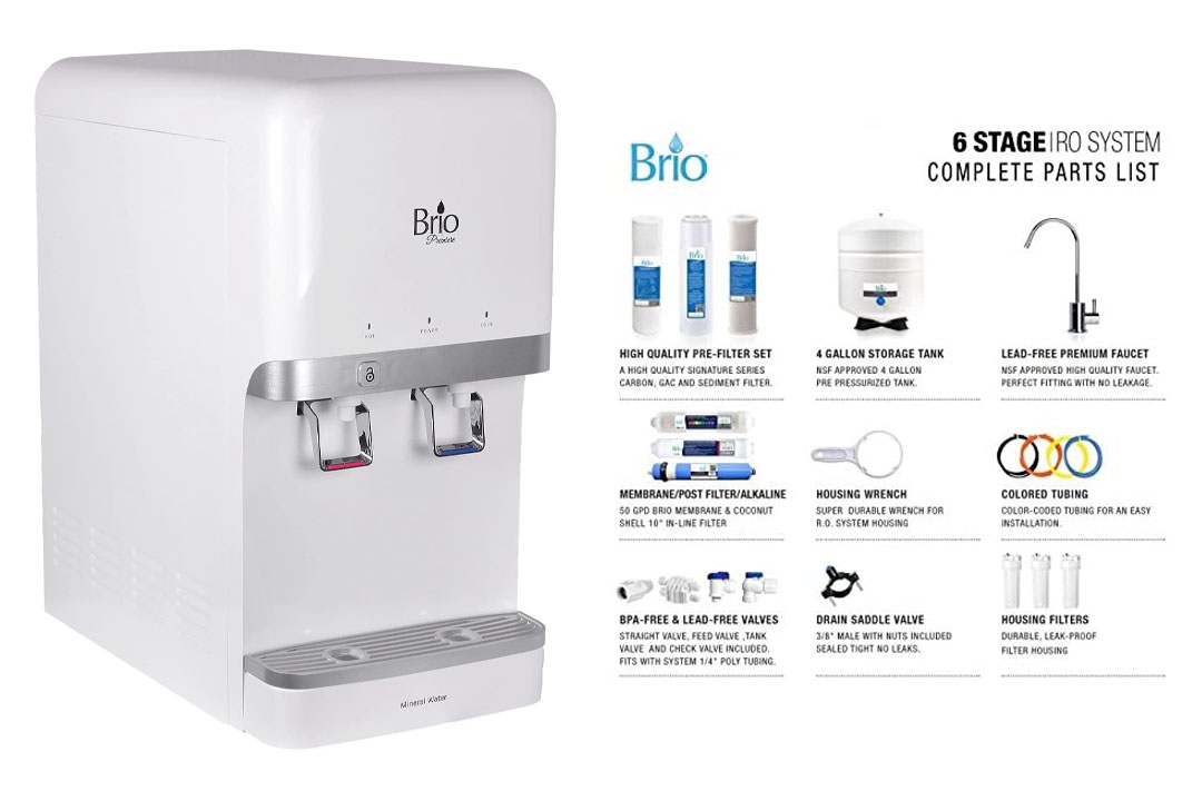 Brio and Magic Mountain 6 Stage Reverse Osmosis Brio CL3000 Osmosis water filter