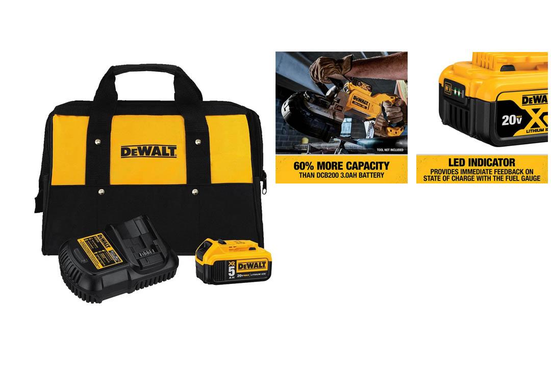 DEWALT 20V MAX Battery and Charger Kit with Bag