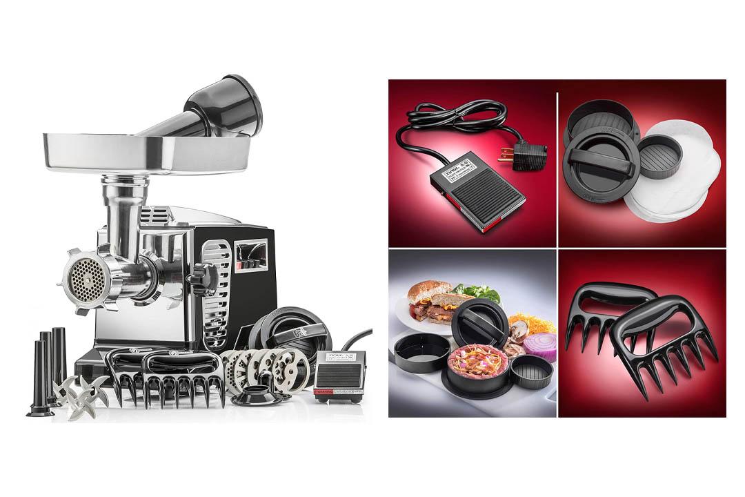 Electric Meat Grinder - Size #12 - Model STX-4000-TB2-PD - STX International Turboforce II Grinder