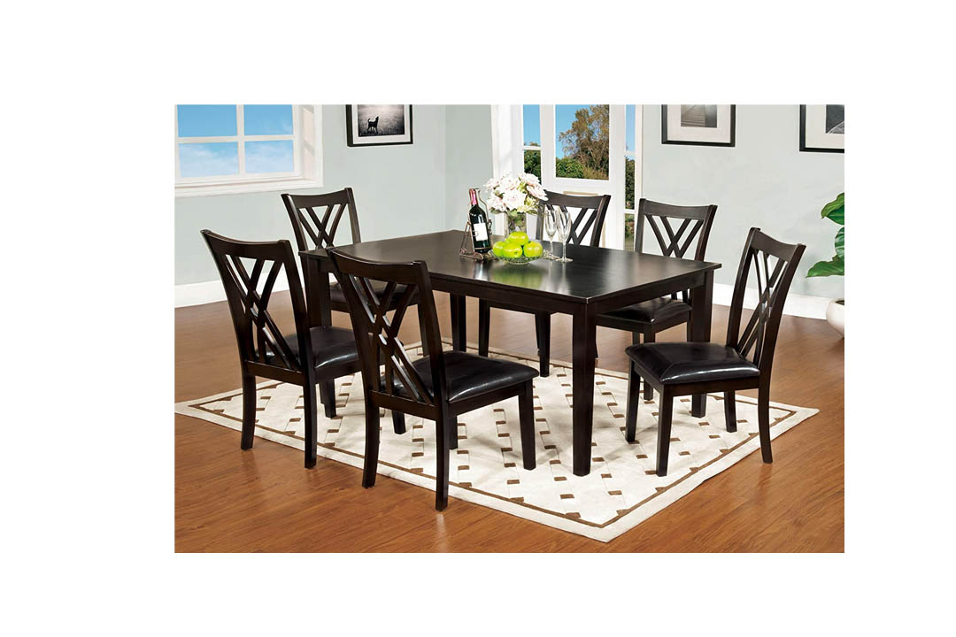 Furniture of America 7-Piece Hearst Rectangular Dining Table and Chair Set