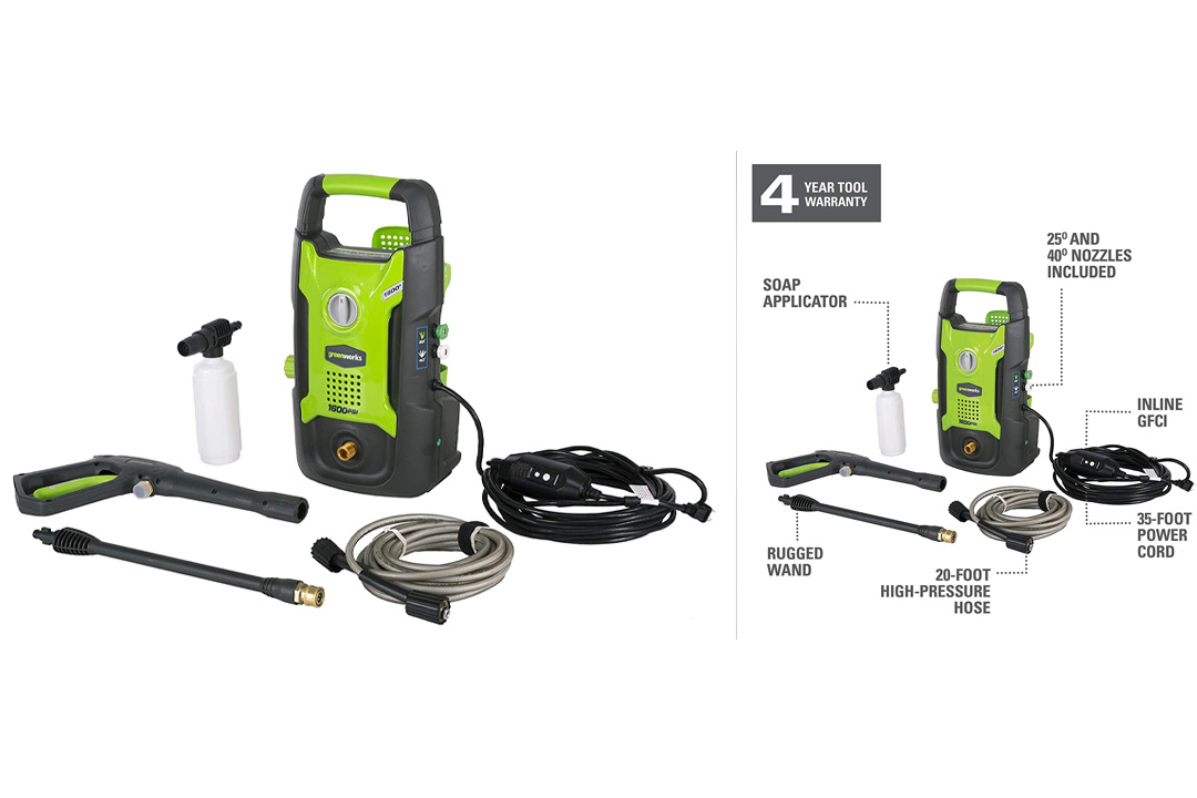 GreenWorks GPW1602 13 amp Electric Pressure Washer
