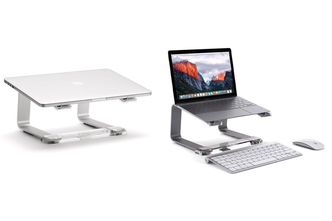 Griffin Elevator Desktop Stand for Laptops, Space Grey - Elegant desktop stand for laptops