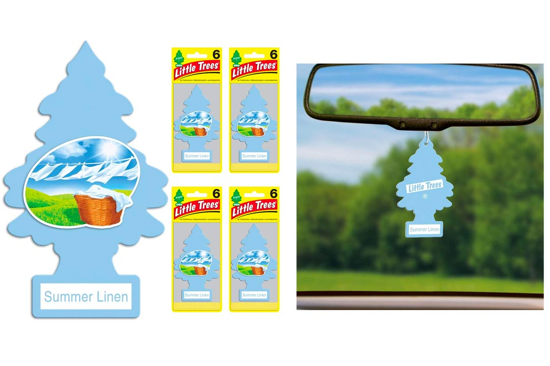 Little Trees Summer Linen Air Freshener, (Pack of 24)
