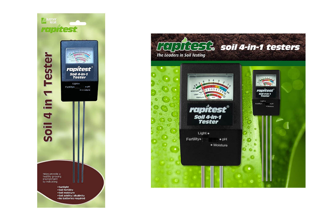 Luster Leaf 1818-6 Rapitest Mini 4-In-1 Soil Tester