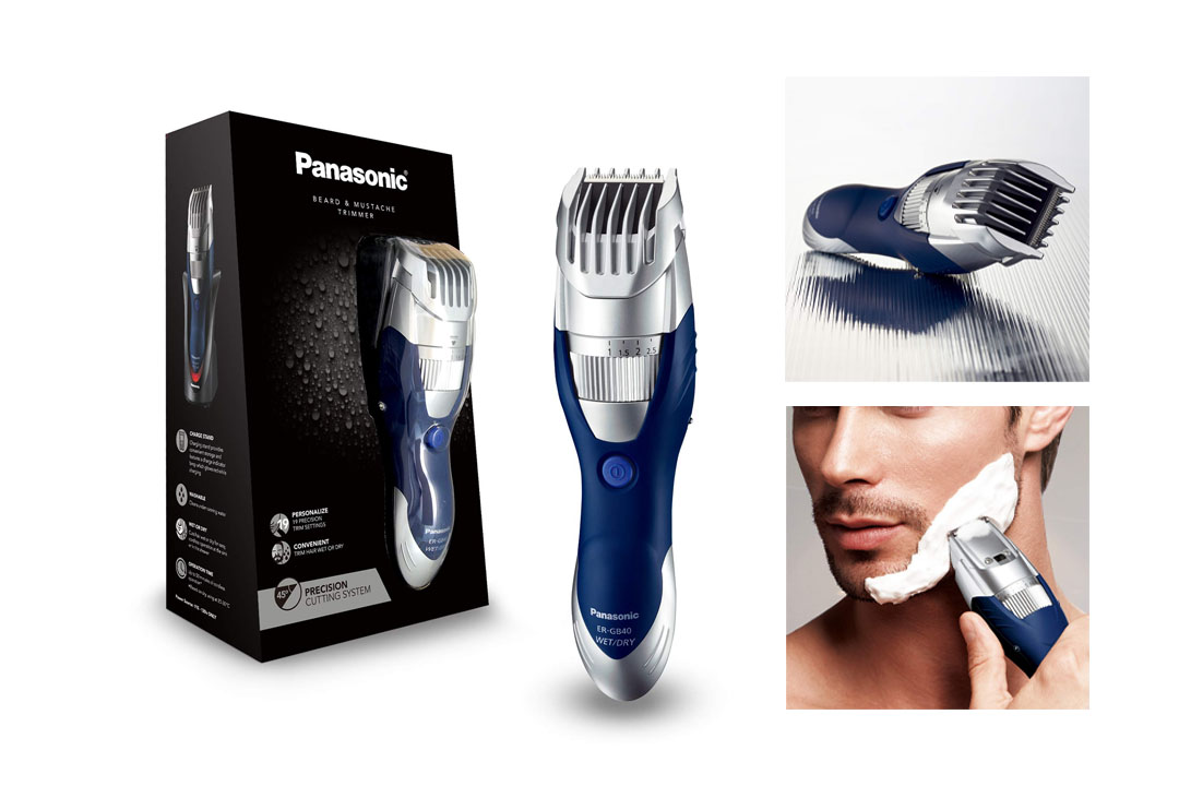 Panasonic ER-GB40-S Cordless Moustache & Beard Trimmer Wet/Dry with 19 Adjustable Settings