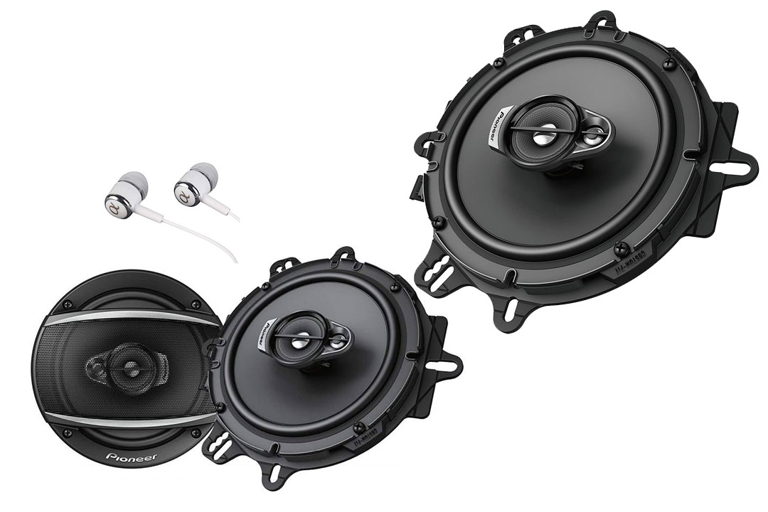 """Pioneer TSA1676R 6-1/2"""" 3-Way Car Speakers"""