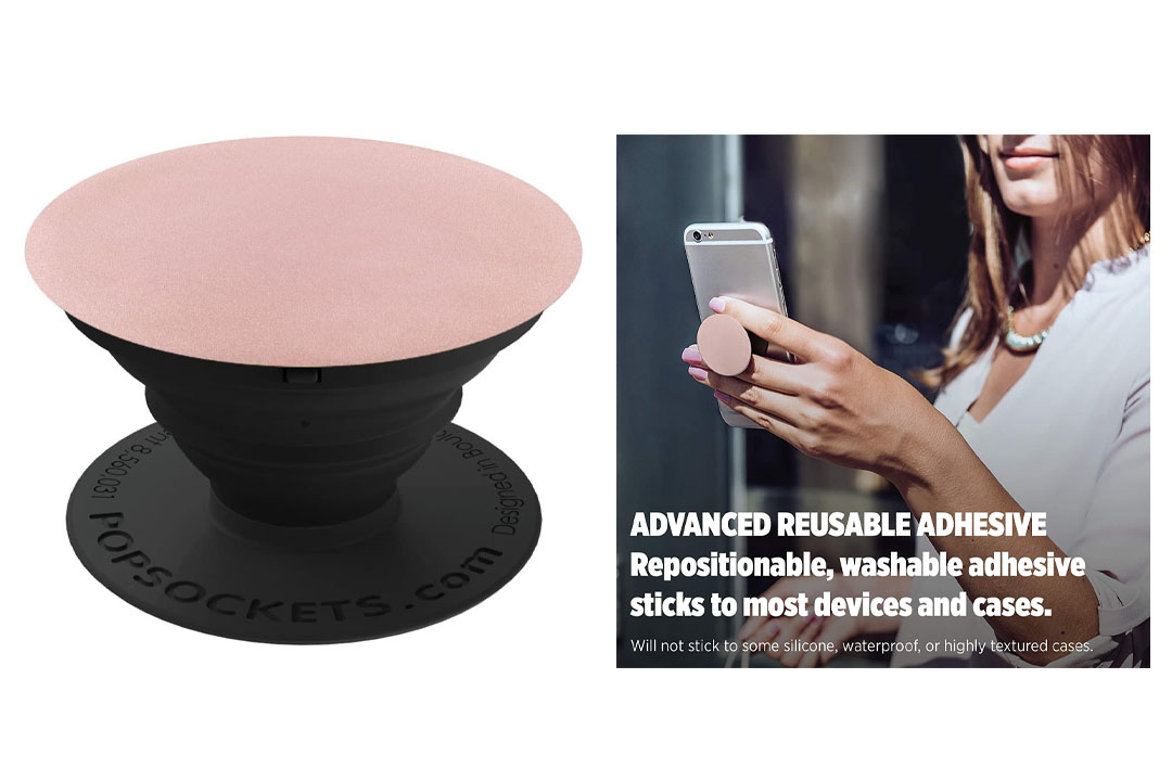PopSockets: Collapsible Grip & Stand for Phones and Tablets - Rose Gold Aluminum