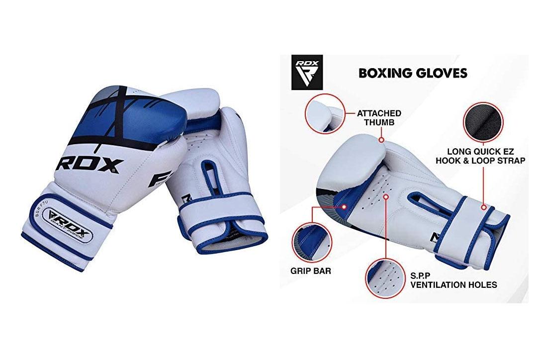 RDX Ego Boxing Gloves Muay Thai Training Professional Maya Hide Leather Sparring Punching Bag Mitts Kickboxing Fighting