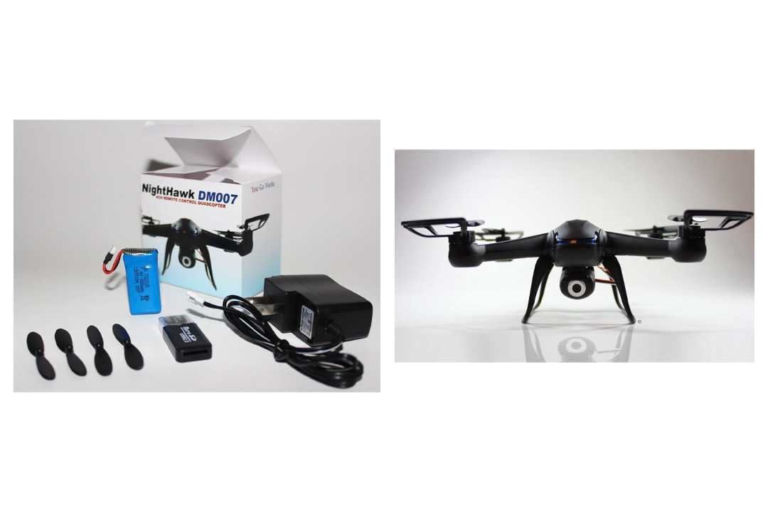 Remote Control NightHawk Quadcopter 6 Axis Gyro DM007 Spy Explorers w/ HD Camera.