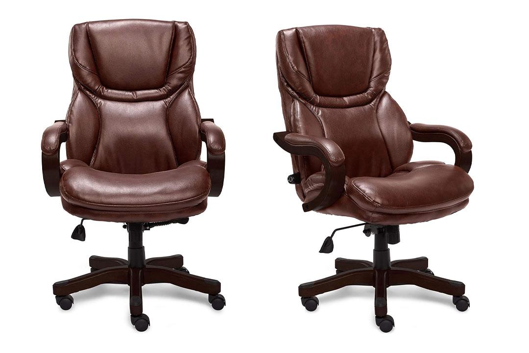 Serya 43506 Bonded Leather Big &Tall Executive Chair, Brown