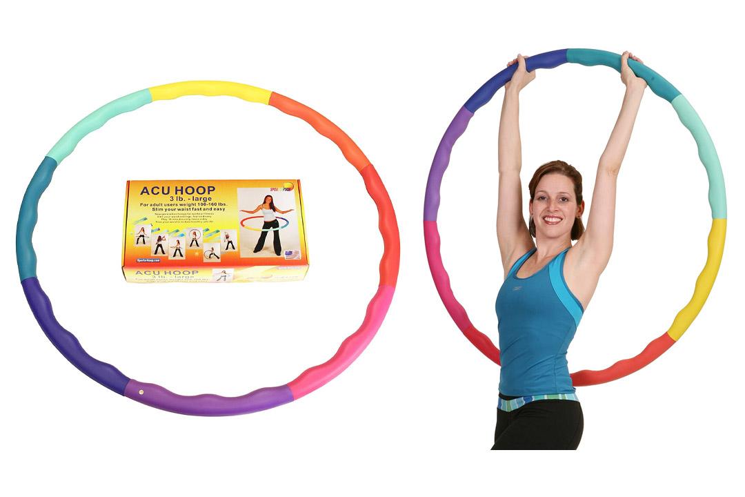 Sports Hoop – Acu Hoop 3L-3.3lb Large, Weighted Hula Hoop
