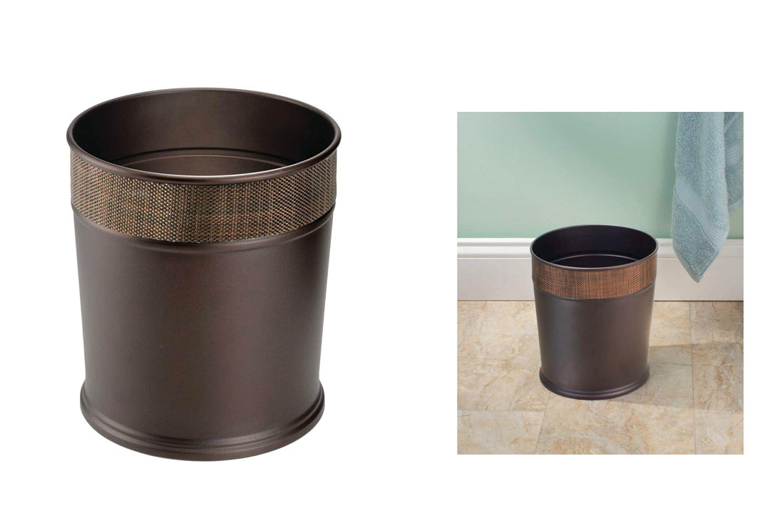 Steel Wastebasket Trash Can