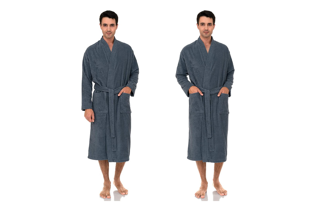 TowelSelections Men's Turkish Cotton Bathrobe Terry Shawl Robe Made in Turkey