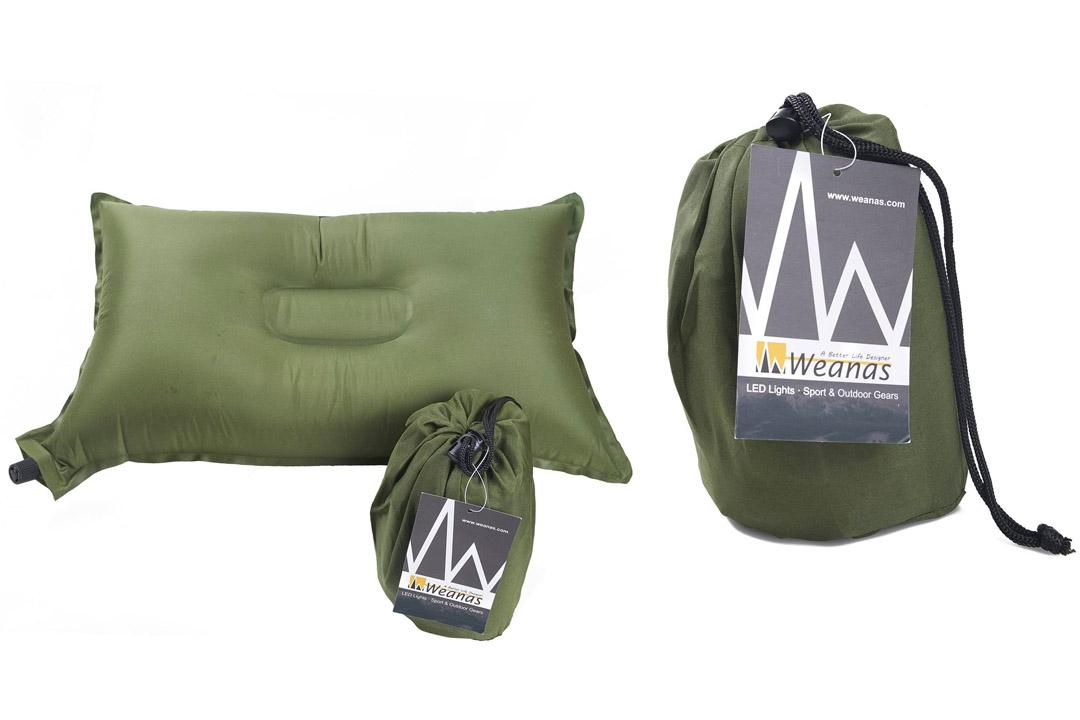 Weanas Lightweight Compressible Recreation Self Inflating Air-Pillow