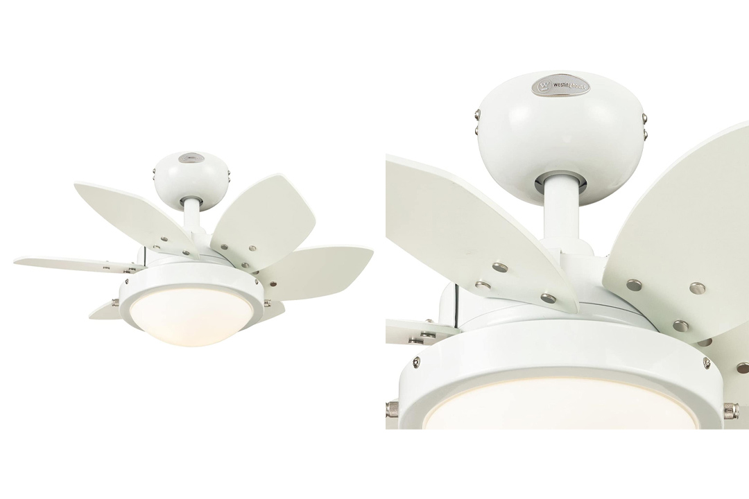 Westinghouse White Ceiling Fan With Six Blades
