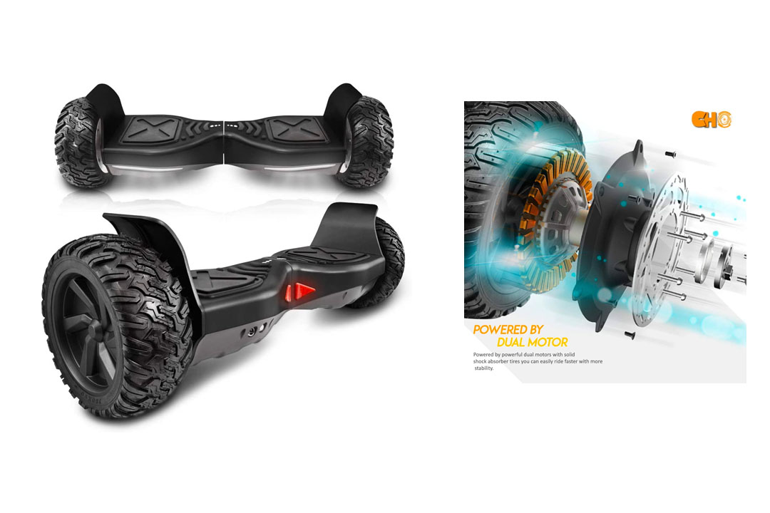 cho New Generation All Terrain Hoverboard Off-Road Smart Self-Balancing Dual Motors Electric Scooter