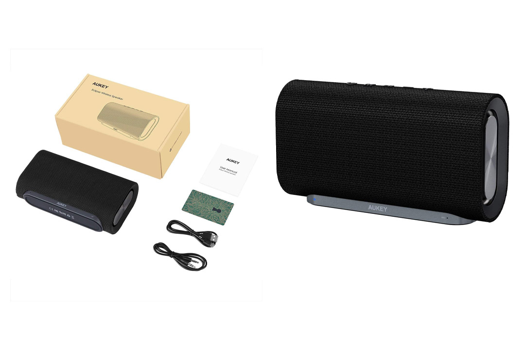 AUKEY Mini Bluetooth Speaker with Enhanced Bass and Metal Housing, Portable Speaker