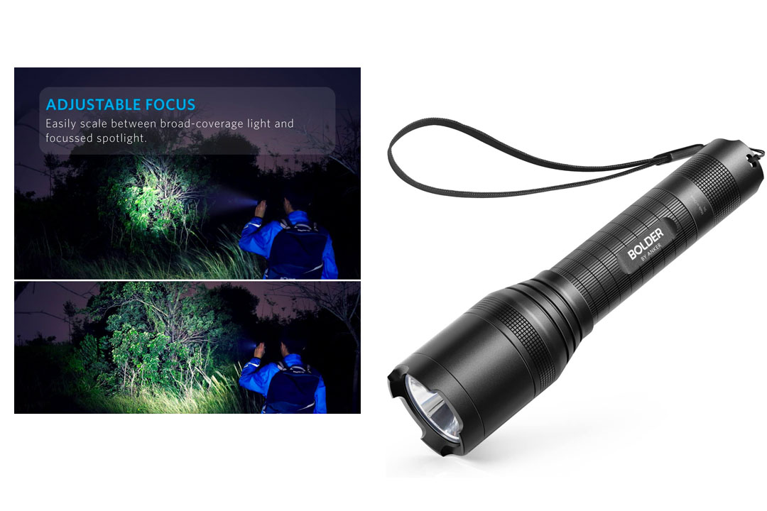 Anker Super Bright Tactical Flashlight, Rechargeable Bolder LC90