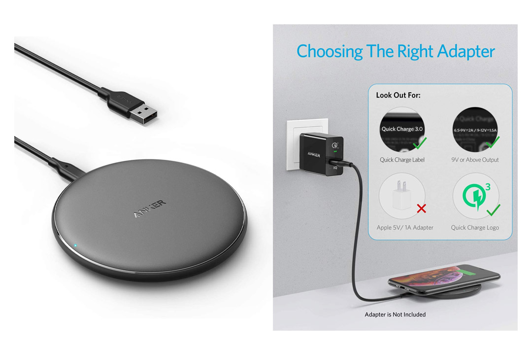 Anker Wireless Charger, PowerWave Pad Qi