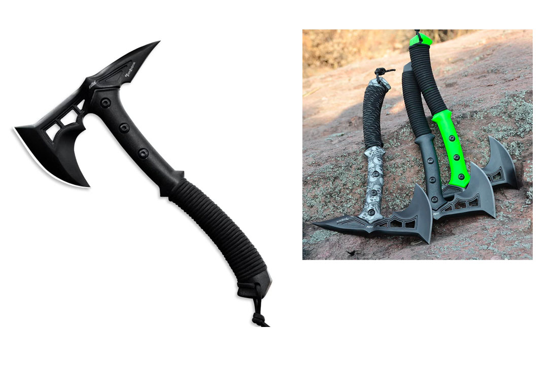 CIMA Tactical Tomahawk Tactical Survival Hunting Camping Axe, Nylon glass fiber Handle /nylon Sheath