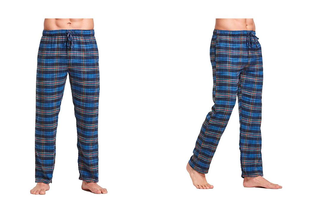 CYZ Men's 100% Cotton Premium Super Soft Flannel Plaid Pajama/Louge Pants