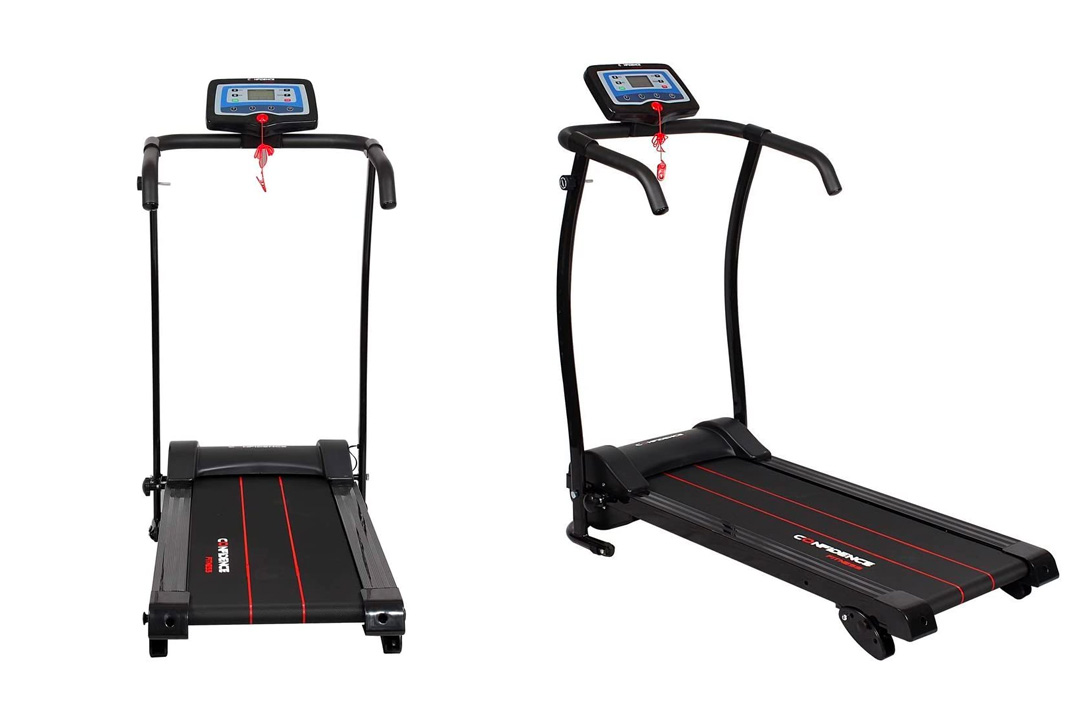 Confidence Power Trac Pro Motorized Electric Folding Treadmill Running Machine with 3 Manual Incline Settings