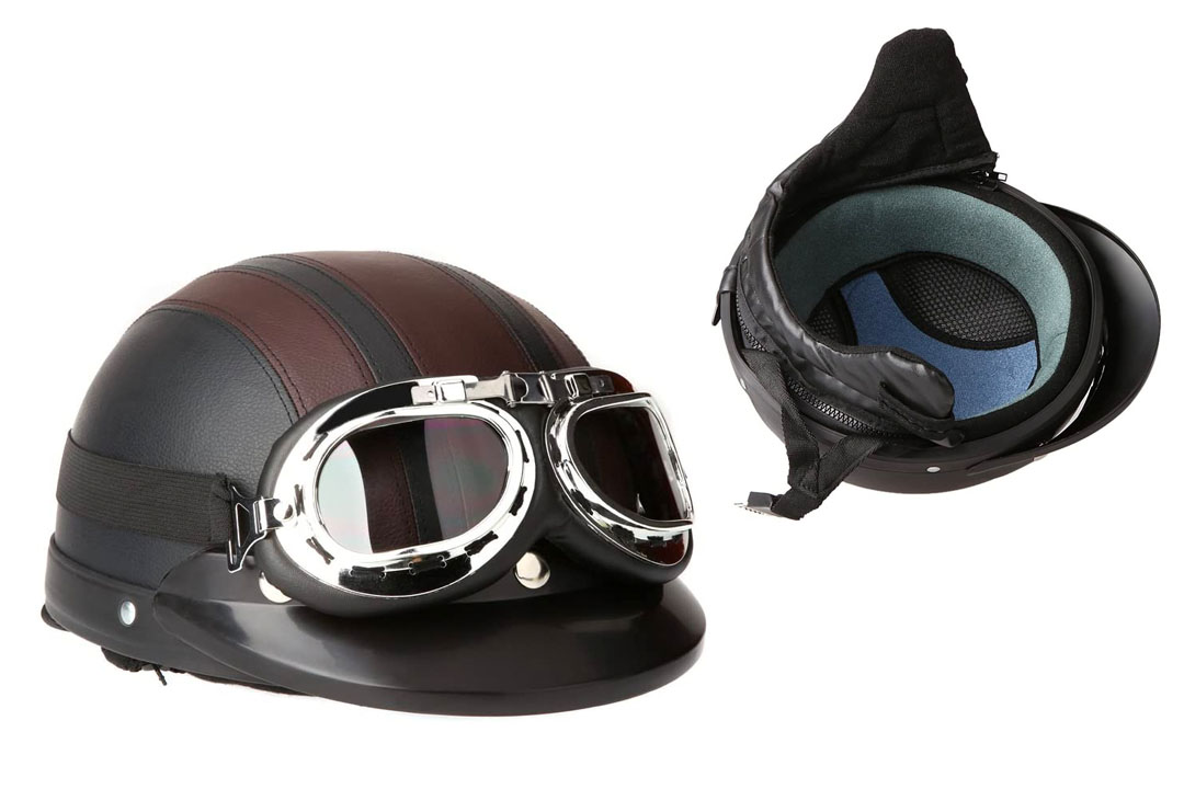 Docooler Leather Style Half Helmets