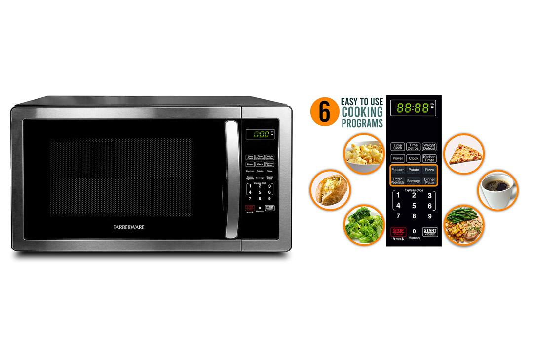 Farberware FMWO11AHTBKB Classic 1000W Microwave Oven