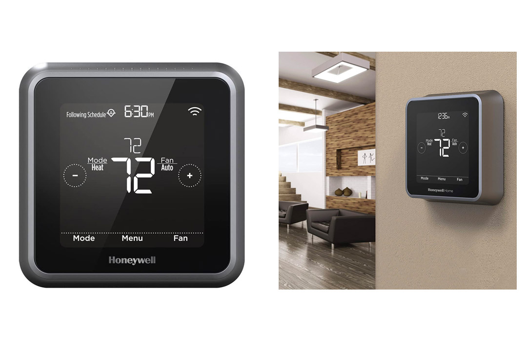 """Honeywell RCHT8610WF2006 Lyric T5 Wi-Fi Smart 7 Day Programmable Touchscreen Thermostat with Geofencing, Works with Amazon Alexa-""""Requires C Wire"""""""