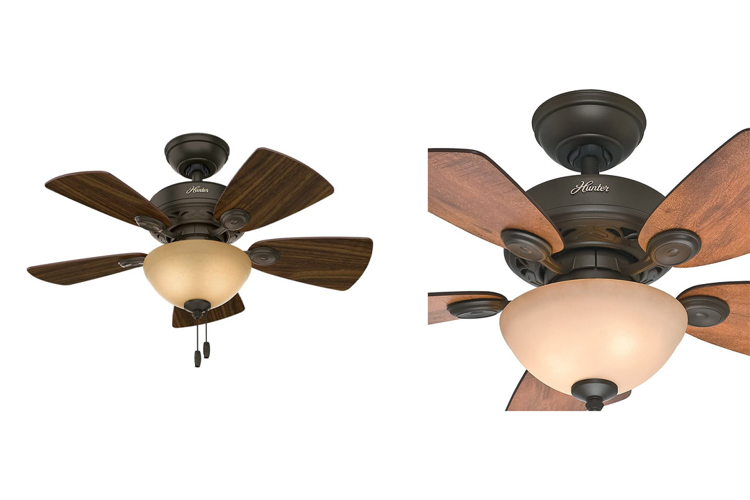 Hunter Bronze Ceiling Fan With Five Blades