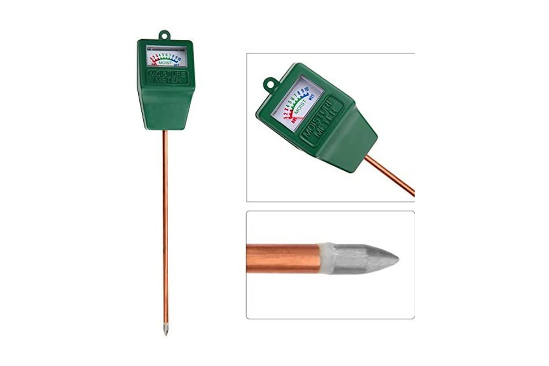 Jellas Moisture Sensor Meter, Indoor / Outdoor Soil Water Monitor, Humidity Plant Care Hygrometer