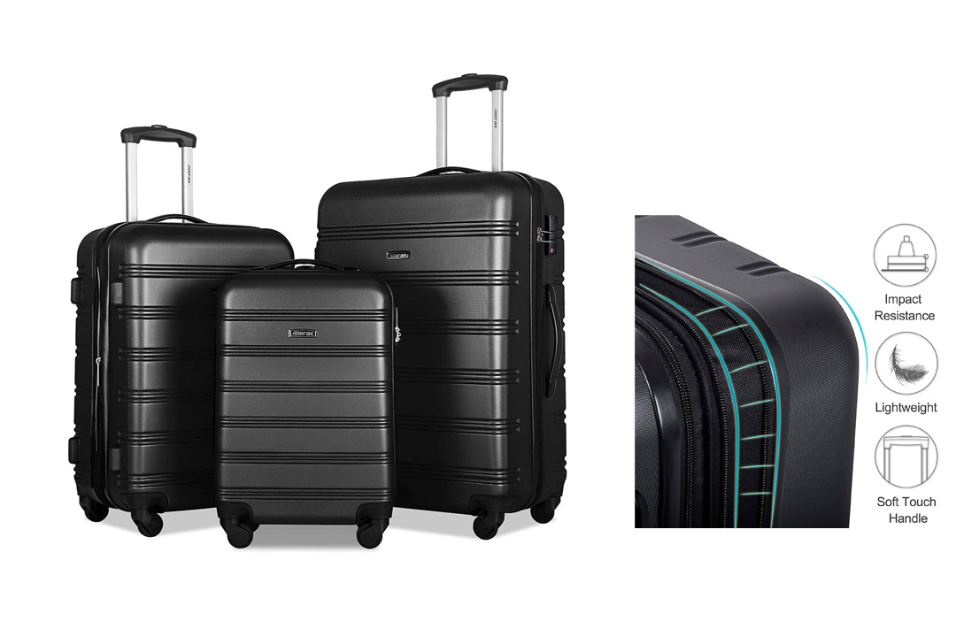 Merax Dreamy Luggage Set 3 Piece Expandable Suitcase ABS+PC with TSA Lock