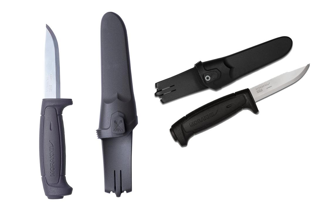 Morakniv Craftline Basic 511 High Carbon Steel Fixed Blade Utility Knife and Combi-Sheath