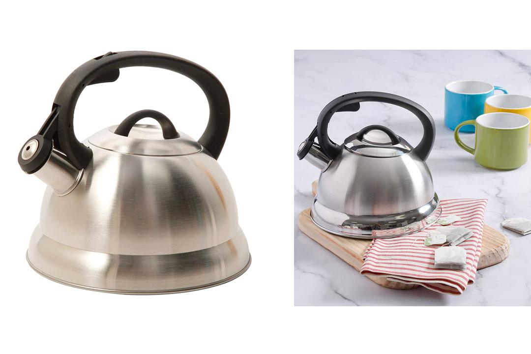 Mr. Coffee 91407.02 Flintshire Stainless Steel Whistling Tea Kettle