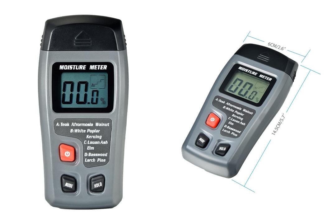 Mudder WM-01 Big LCD Display Digital Wood Moisture Meter, To Measure The Percentage of Water In Firewood
