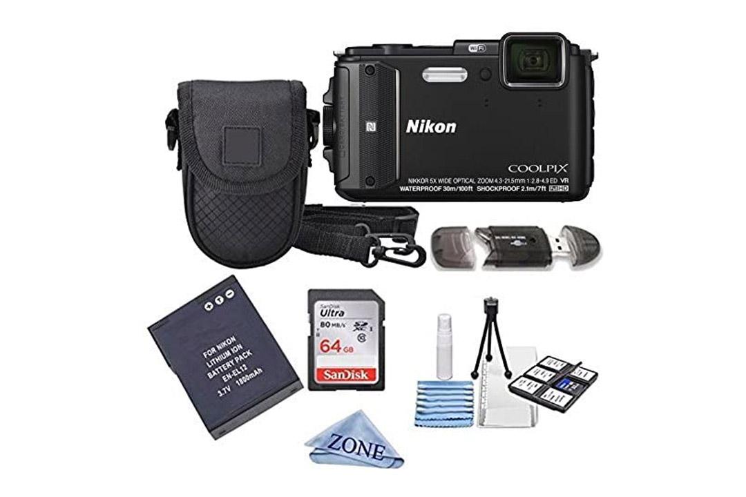 Nikon COOLPIX AW130 16.0-Megapixel 5X Optical Waterproof Digital Camera