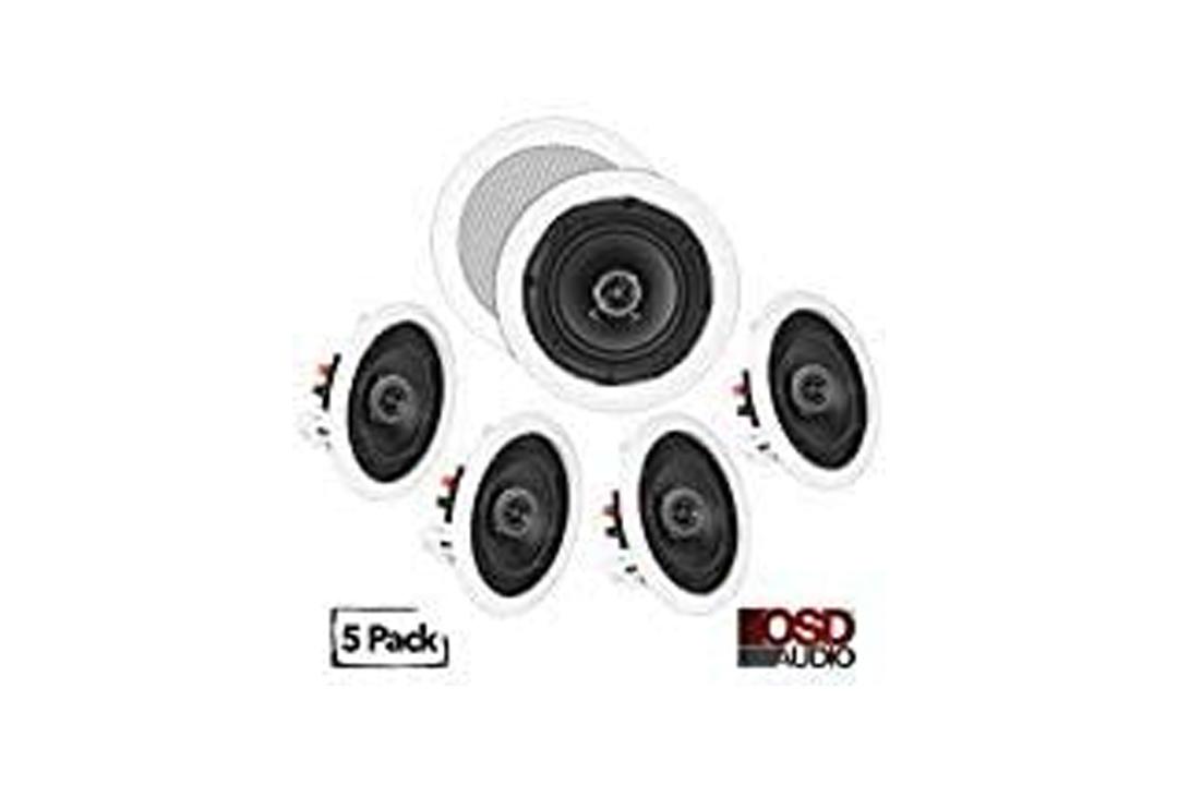 OSD Audio In-Ceiling/In-Wall Speaker Home Theater 5-Speaker Package w/ Swivel Dome