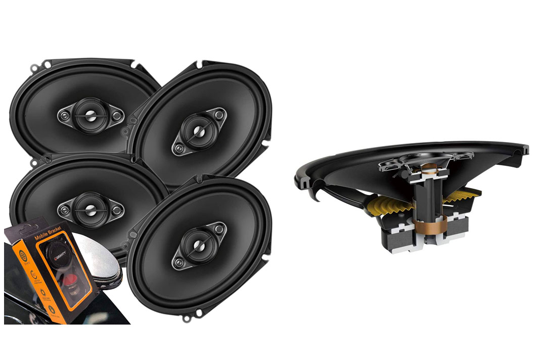 Pioneer 5x7 / 6x8 Inch 4-Way 350 Watt Car Stereo Speakers Four | TS-A6886R