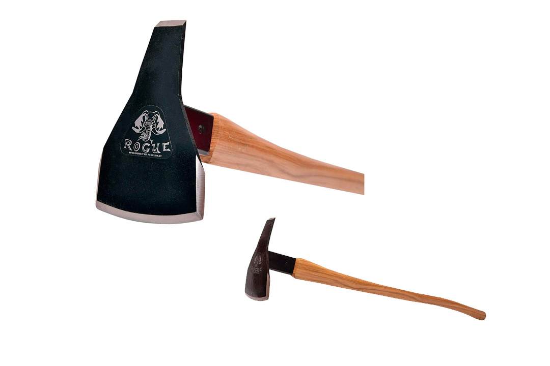 """Prohoe Triangle Head Rogue Hoe with 40"""" Curved Hickory Handle"""