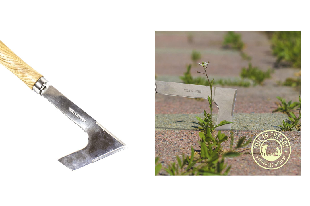 Toil in the Soil Paving Hand Weeder - 12.2 inch Overall Length, Rugged Stainless Steel